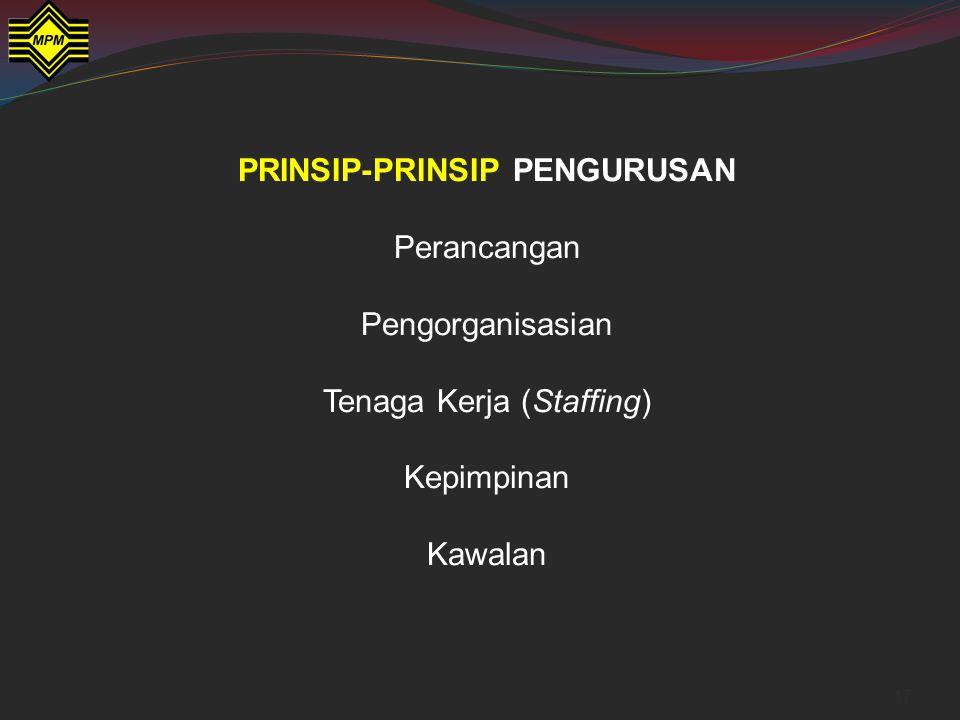 PRINSIP-PRINSIP PENGURUSAN