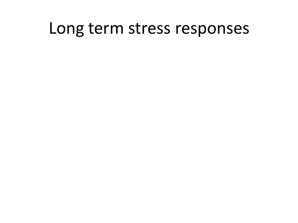 Long term stress responses