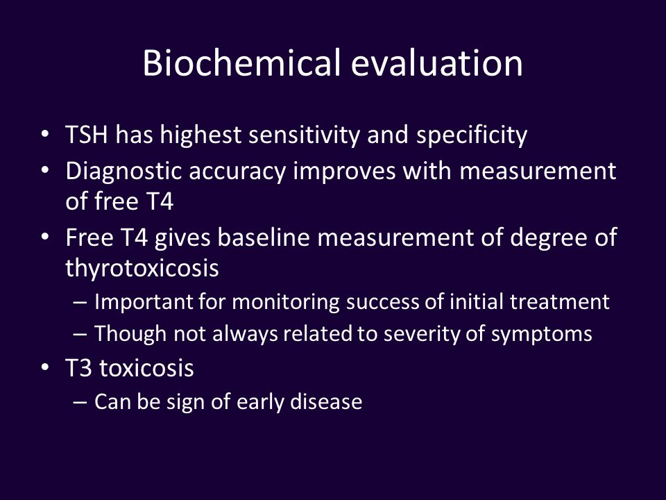 Biochemical evaluation