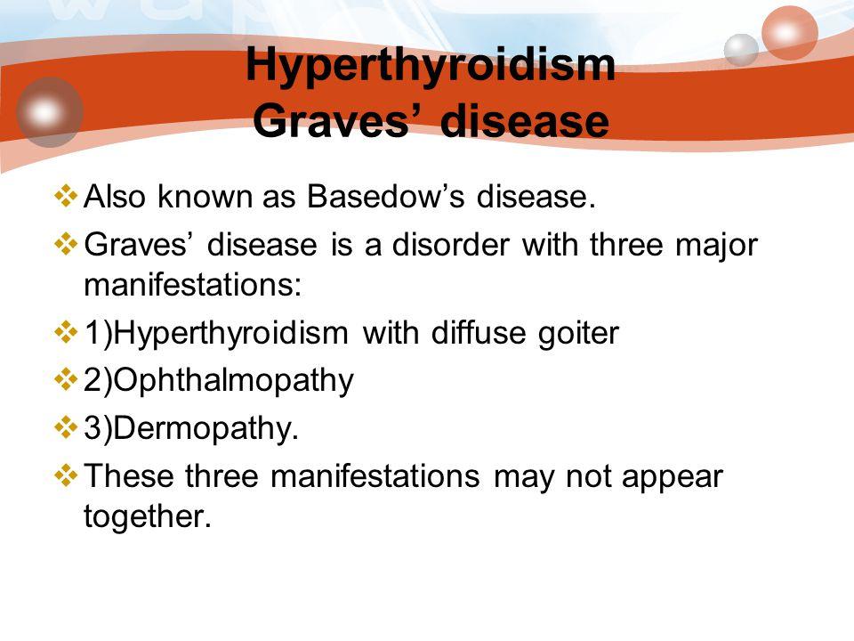 Hyperthyroidism Graves' disease
