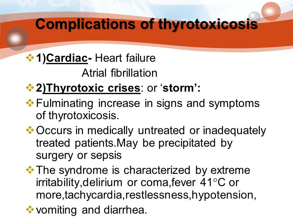 Complications of thyrotoxicosis