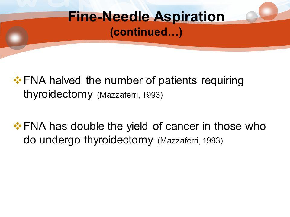 Fine-Needle Aspiration (continued…)