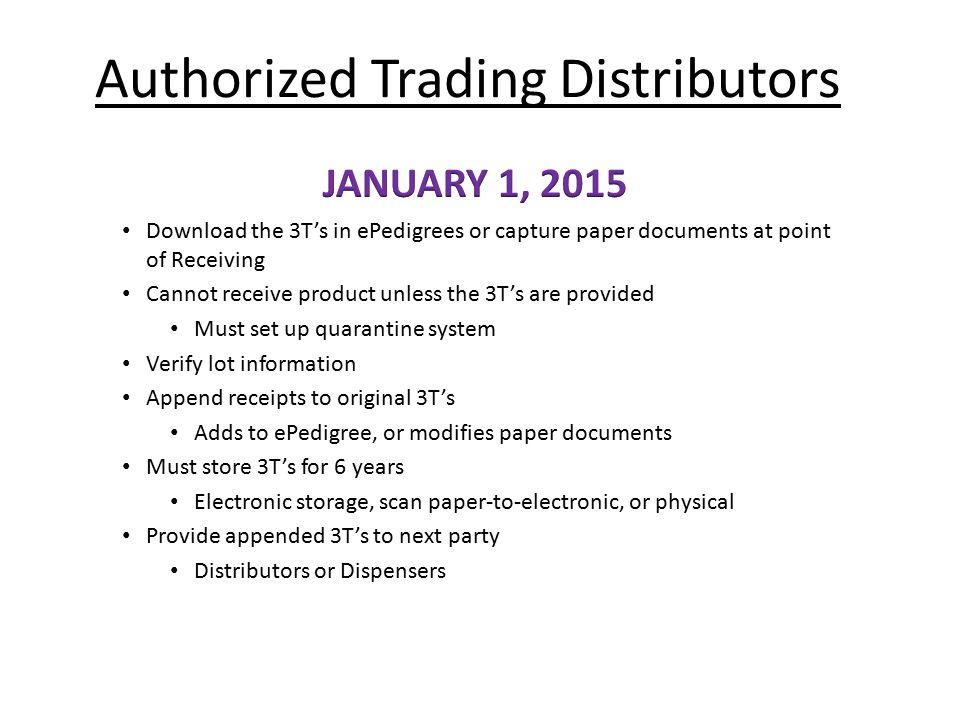 Authorized Trading Distributors