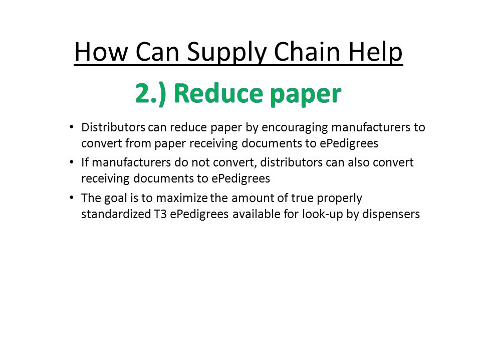 How Can Supply Chain Help