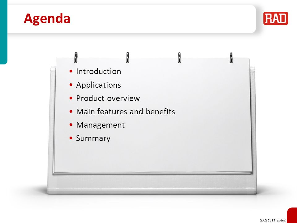Agenda Introduction Applications Product overview