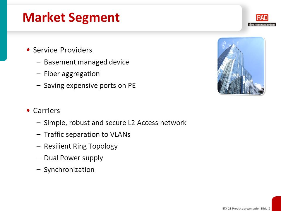 Market Segment Service Providers Carriers Basement managed device