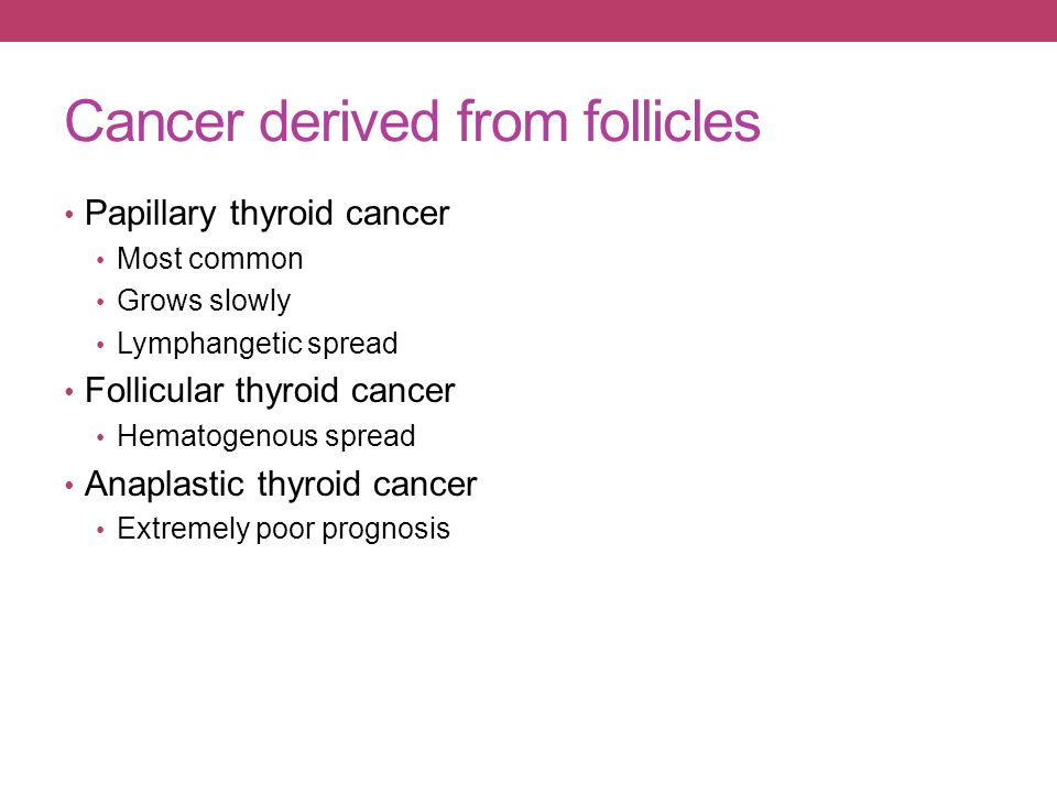 Cancer derived from follicles