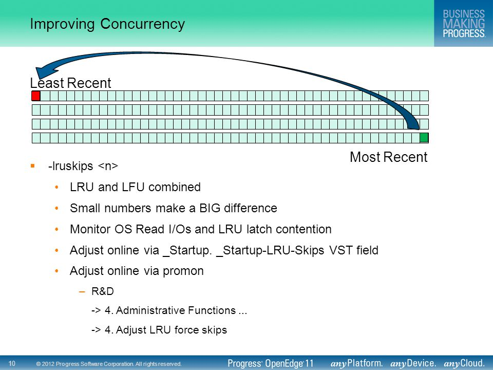 Improving Concurrency