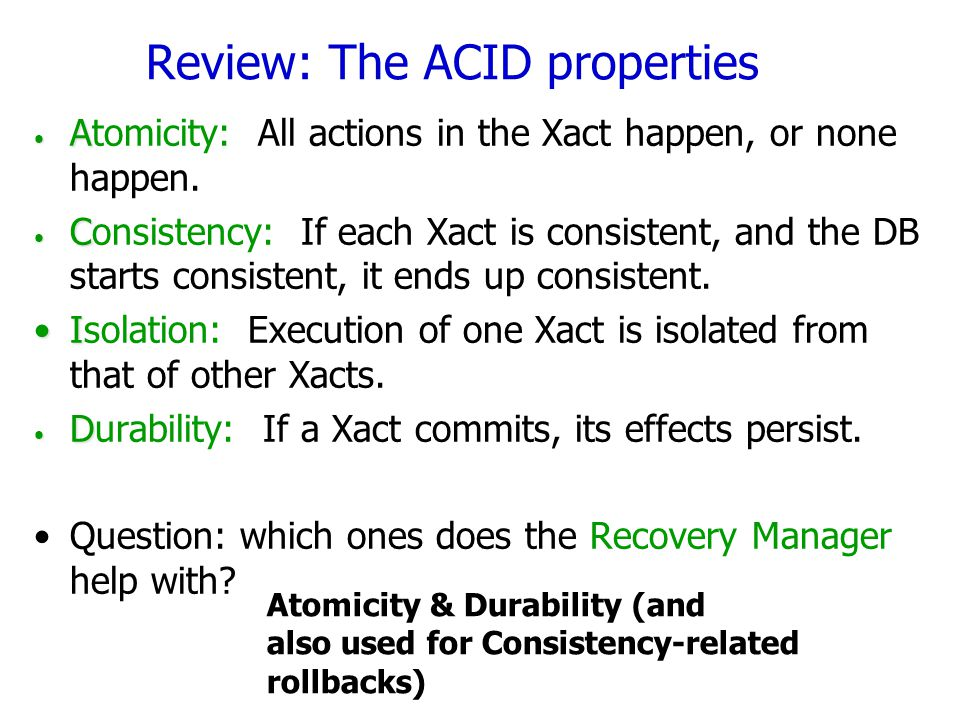 Review: The ACID properties