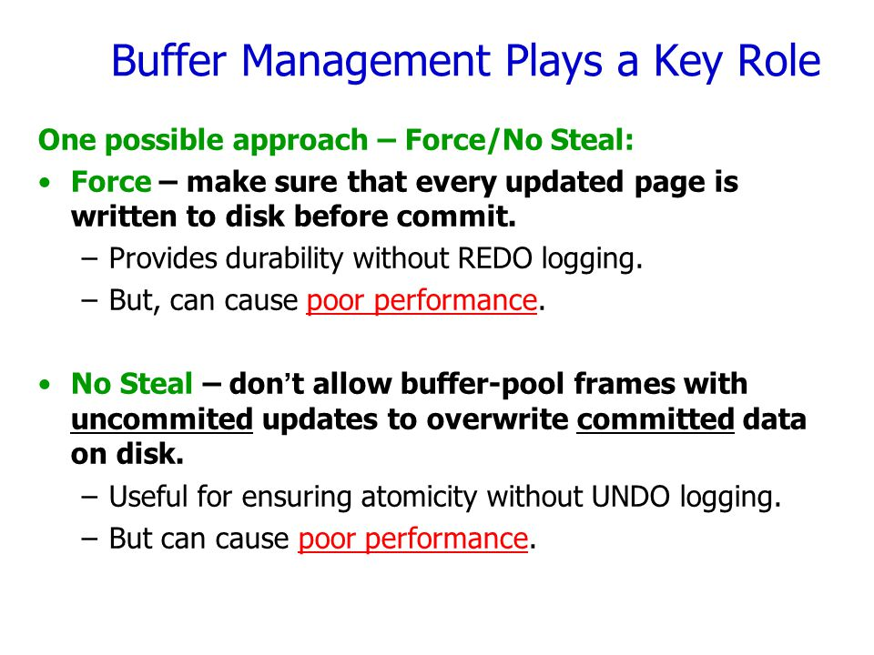 Buffer Management Plays a Key Role