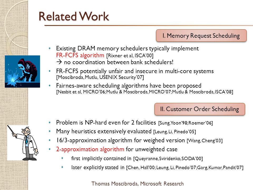 Related Work I. Memory Request Scheduling
