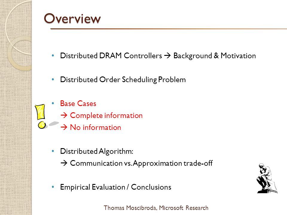 Overview Distributed DRAM Controllers  Background & Motivation