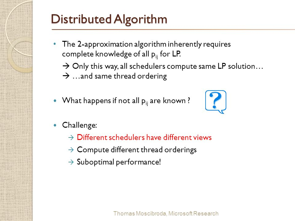 Distributed Algorithm