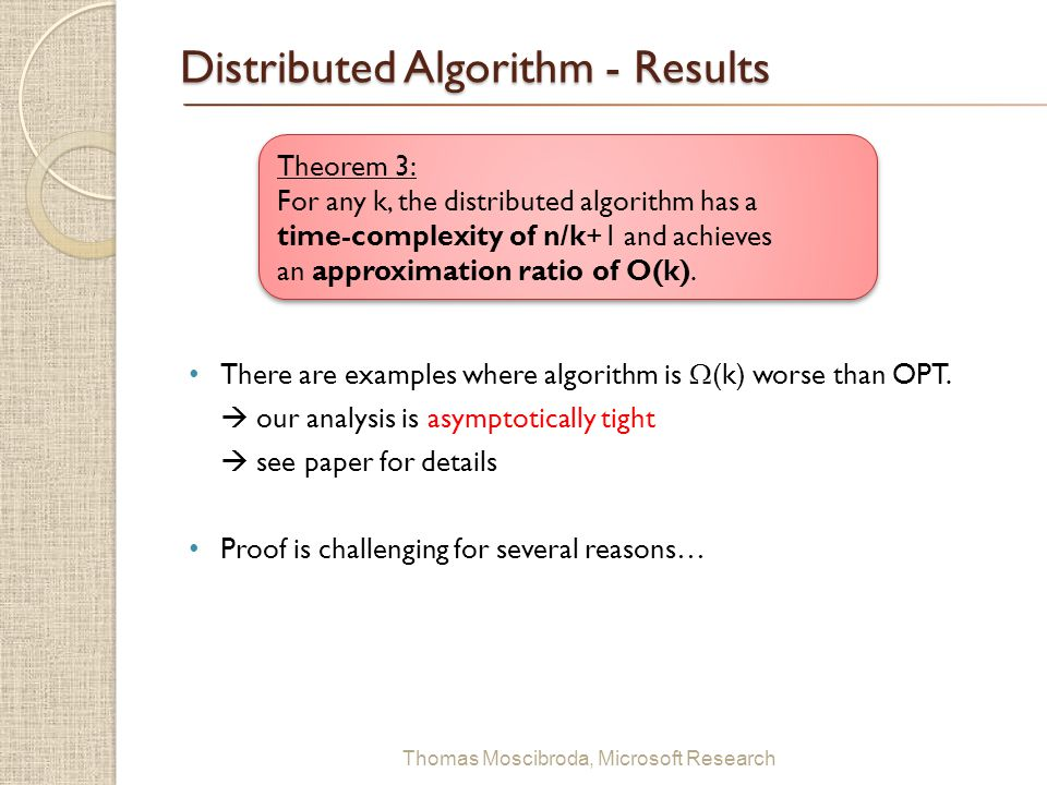 Distributed Algorithm - Results