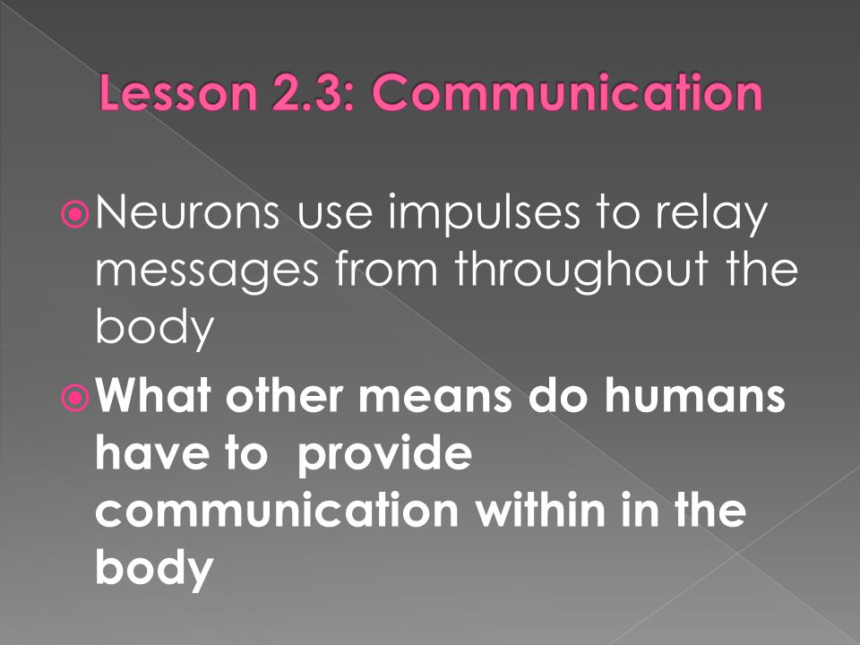 Lesson 2.3: Communication
