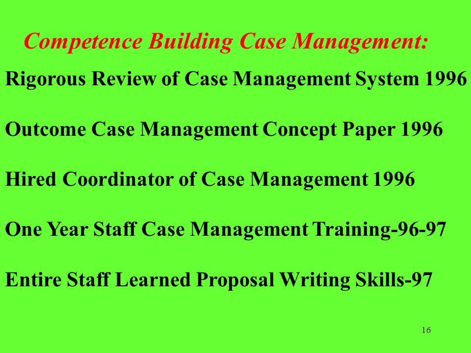 Competence Building Case Management: