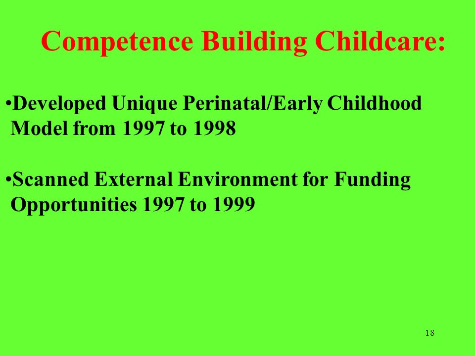 Competence Building Childcare: