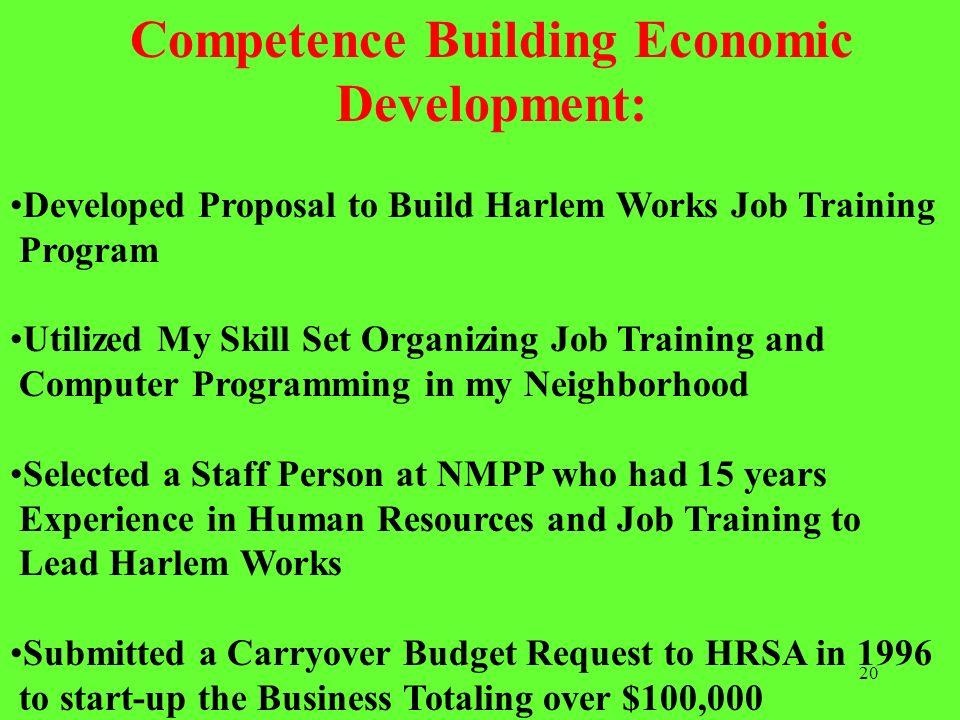 Competence Building Economic Development: