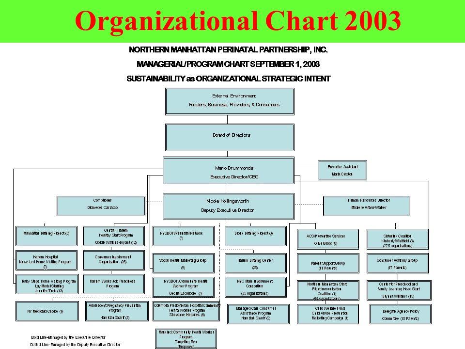 Organizational Chart 2003