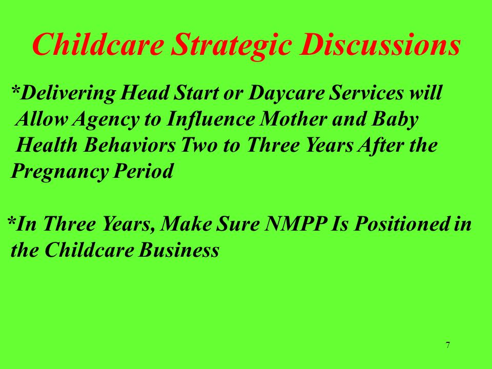 Childcare Strategic Discussions