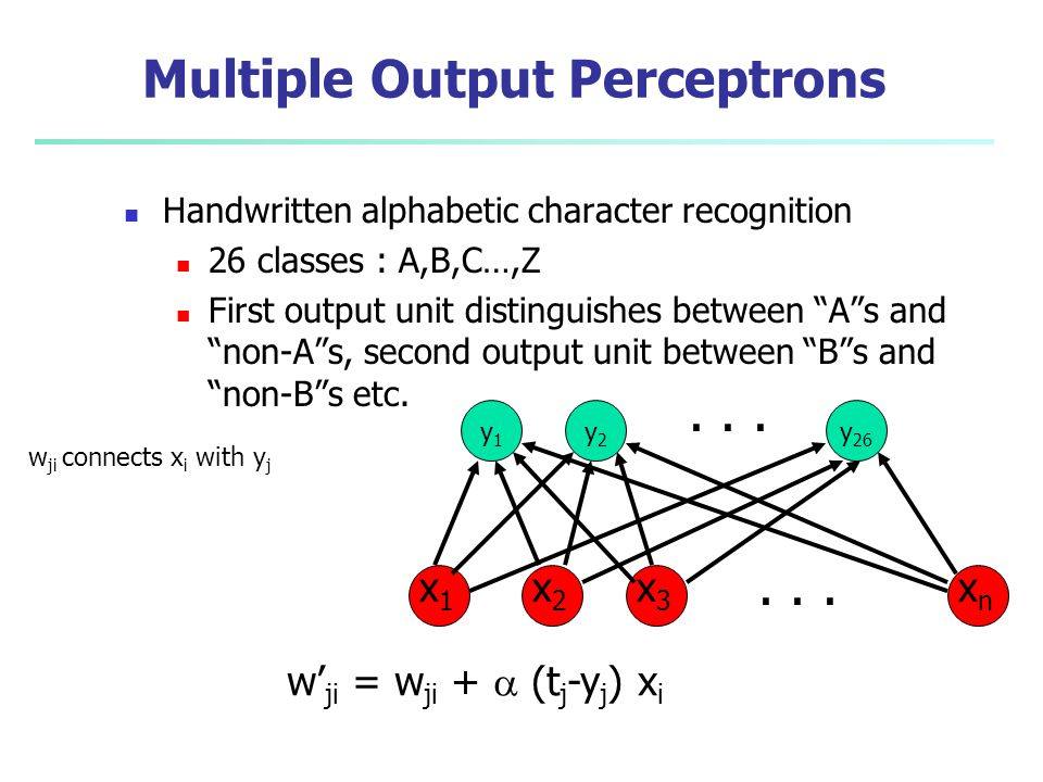 Multiple Output Perceptrons