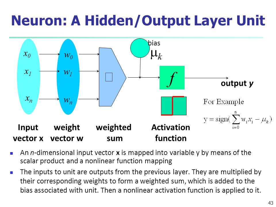 Neuron: A Hidden/Output Layer Unit