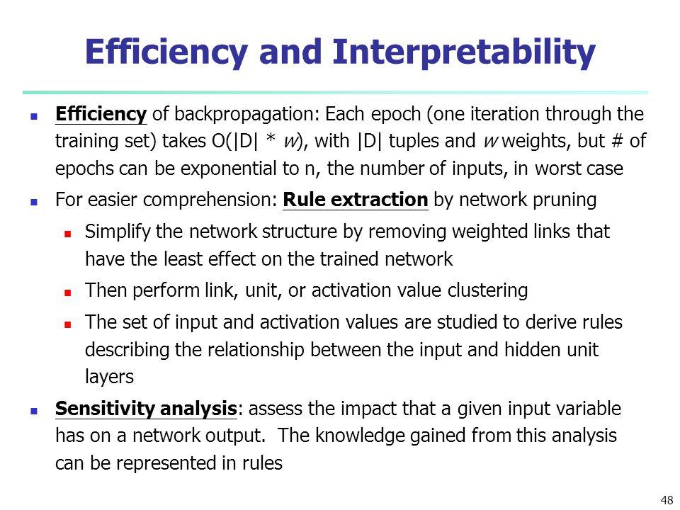 Efficiency and Interpretability