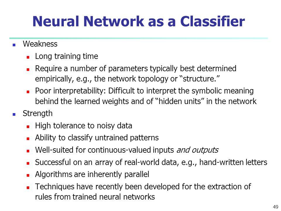 Neural Network as a Classifier