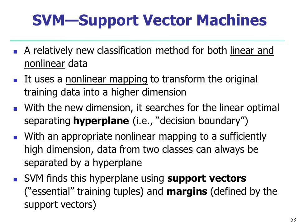 SVM—Support Vector Machines