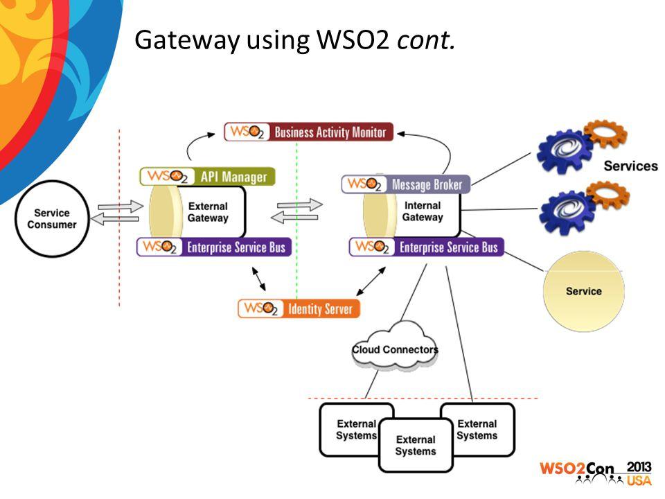 Gateway using WSO2 cont.