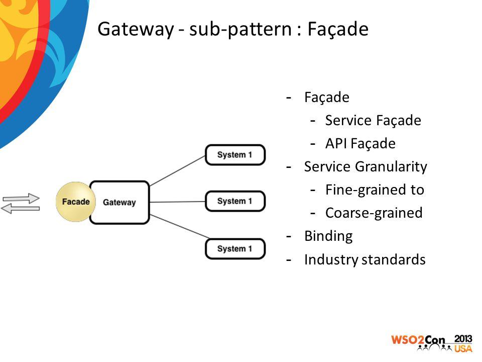 Gateway - sub-pattern : Façade