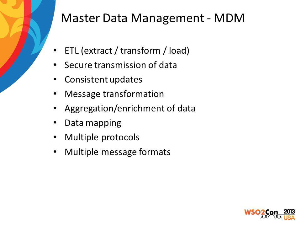 Master Data Management - MDM