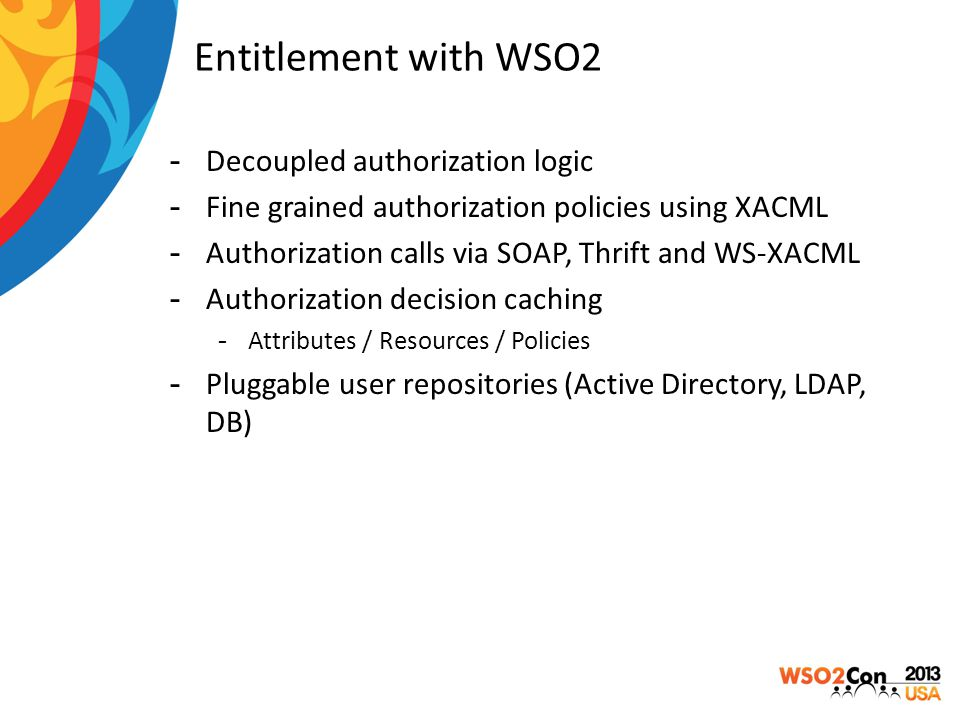 Entitlement with WSO2 Decoupled authorization logic