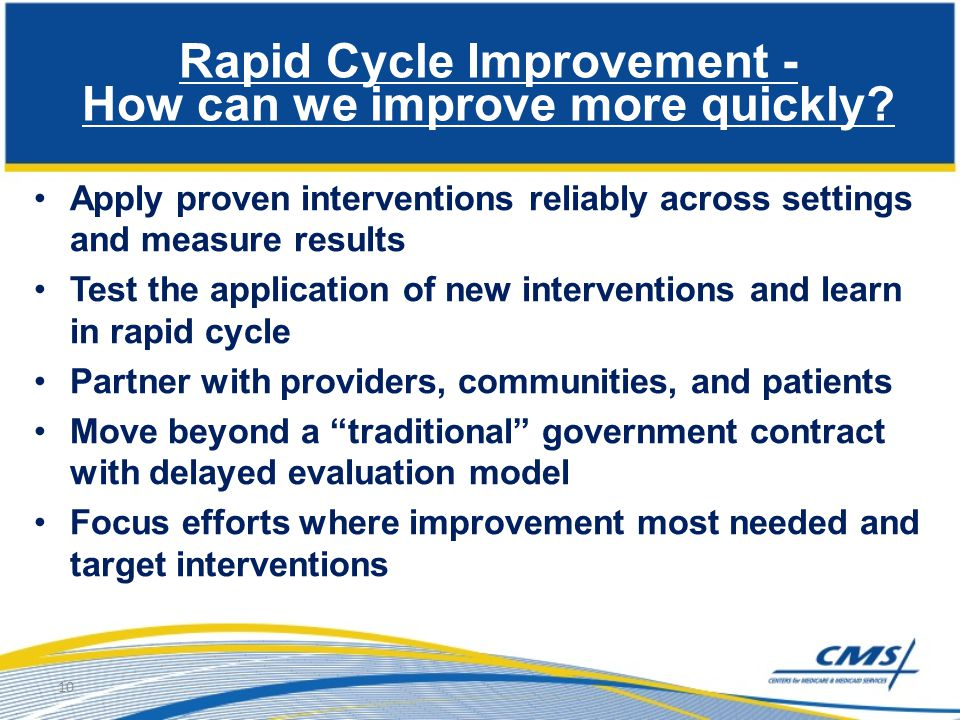 Rapid Cycle Improvement - How can we improve more quickly