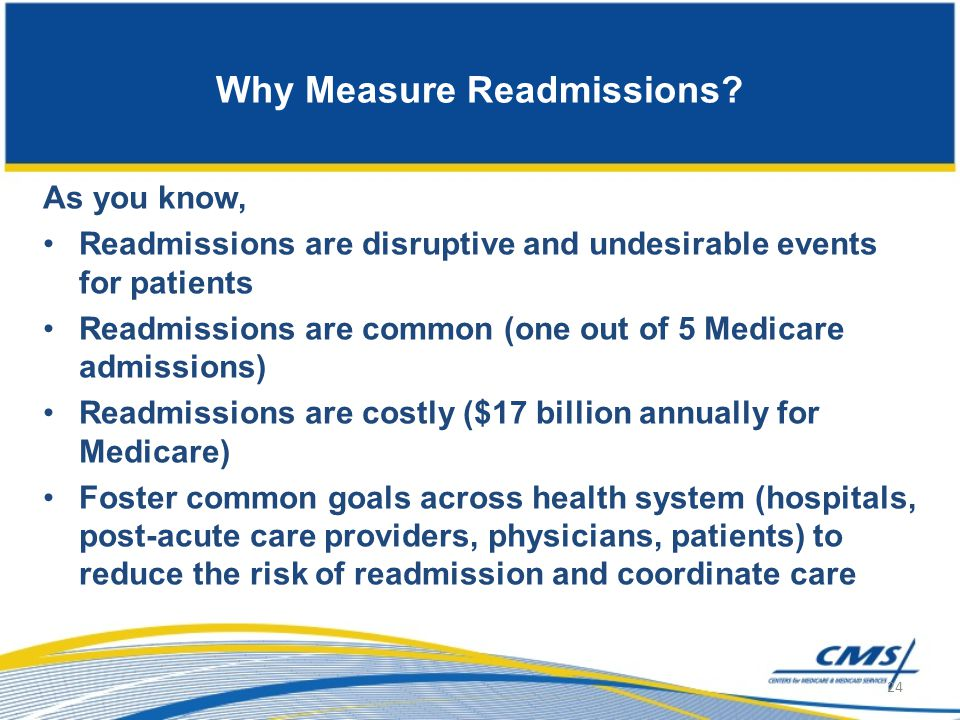 Why Measure Readmissions