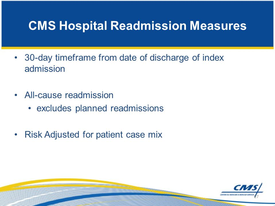 CMS Hospital Readmission Measures