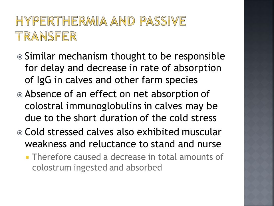 Hyperthermia and Passive Transfer