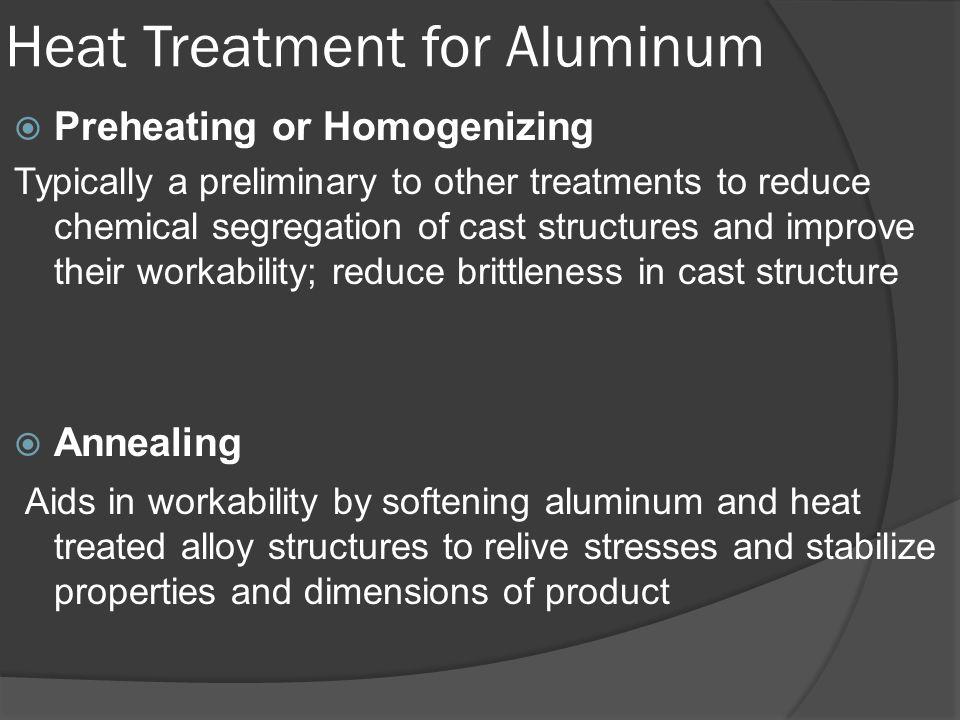 Heat Treatment for Aluminum
