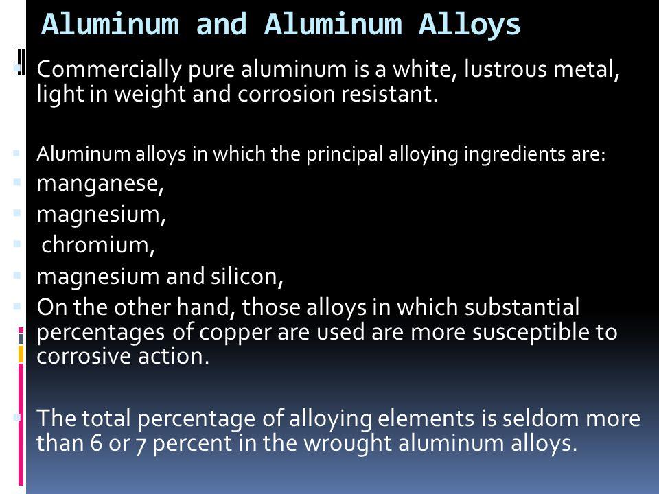 Aluminum and Aluminum Alloys