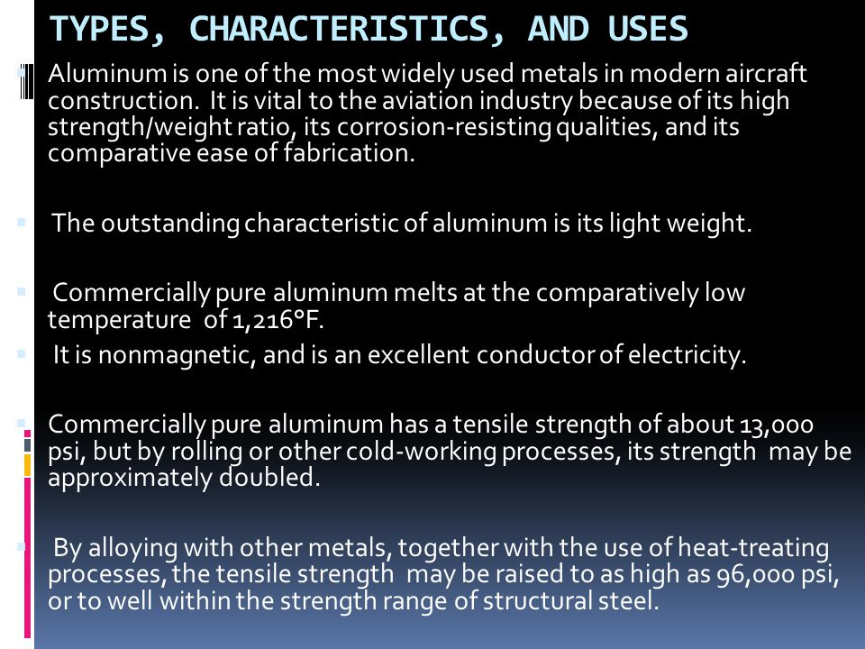 TYPES, CHARACTERISTICS, AND USES