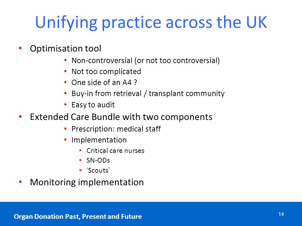 Unifying practice across the UK