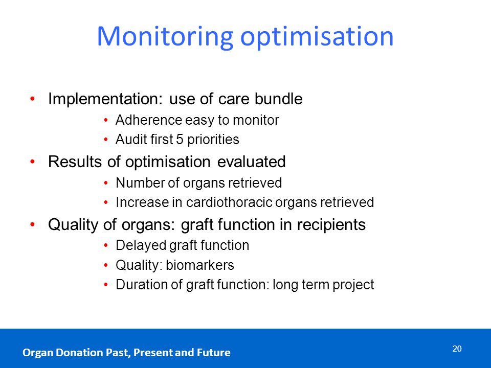 Monitoring optimisation