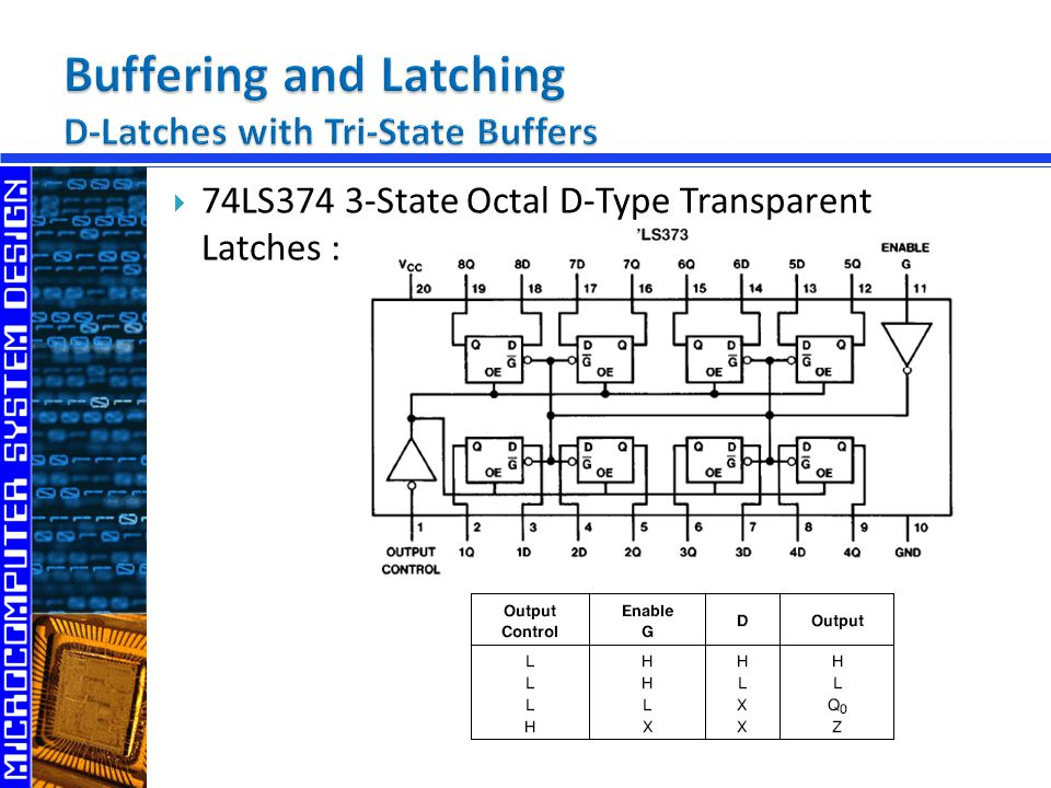 Buffering and Latching D-Latches with Tri-State Buffers