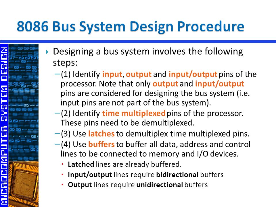 8086 Bus System Design Procedure