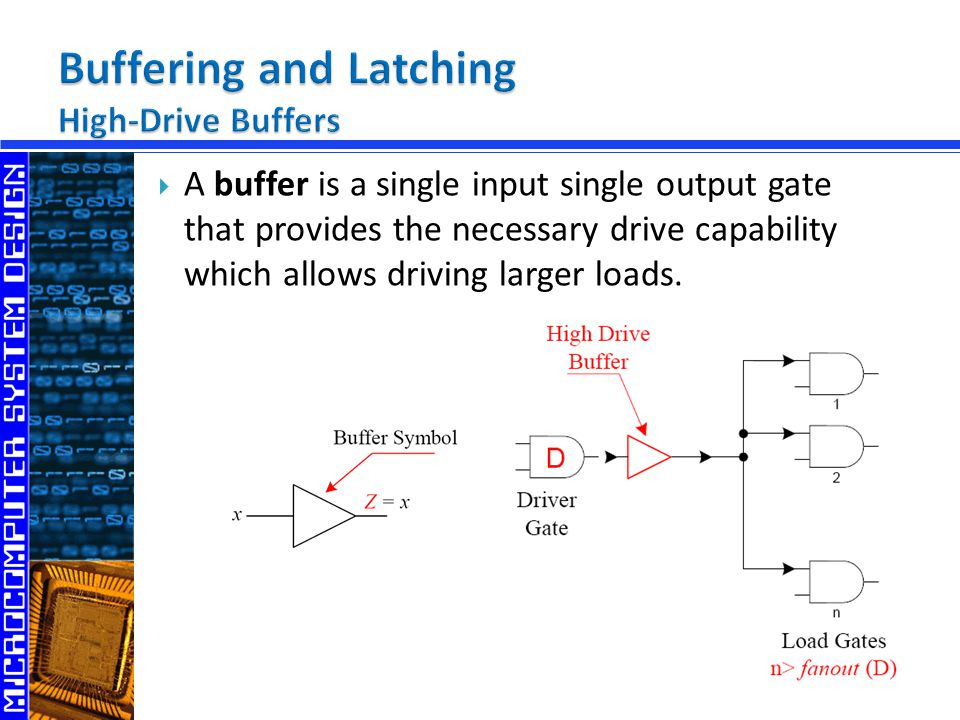 Buffering and Latching High-Drive Buffers