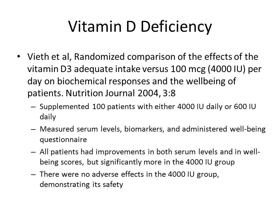 symptoms vitamin d3 deficiency