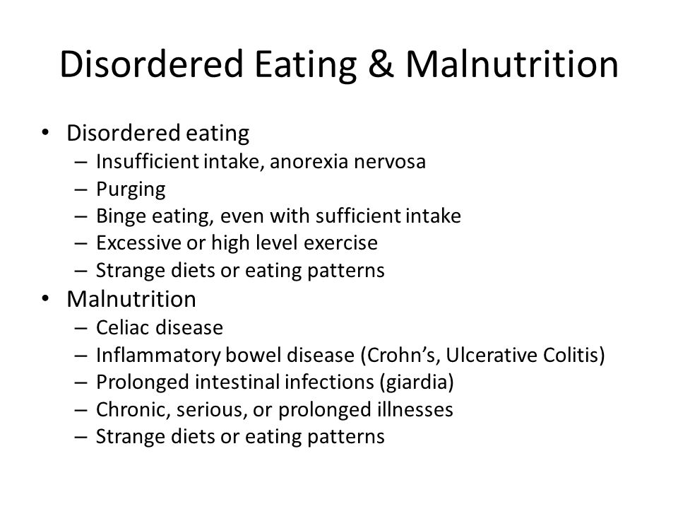 Disordered Eating & Malnutrition