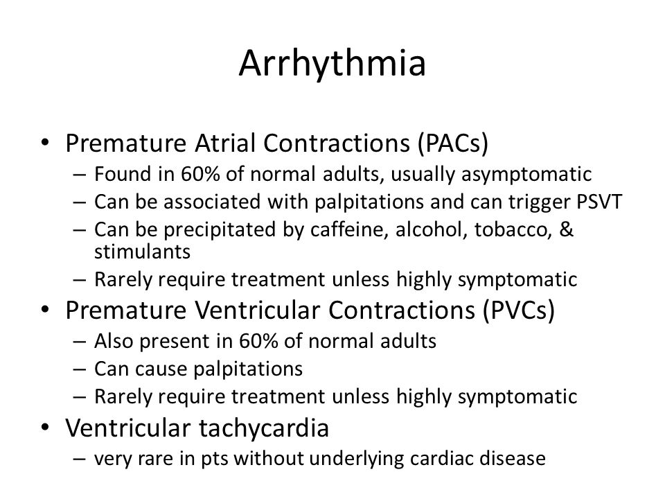 Arrhythmia Premature Atrial Contractions (PACs)