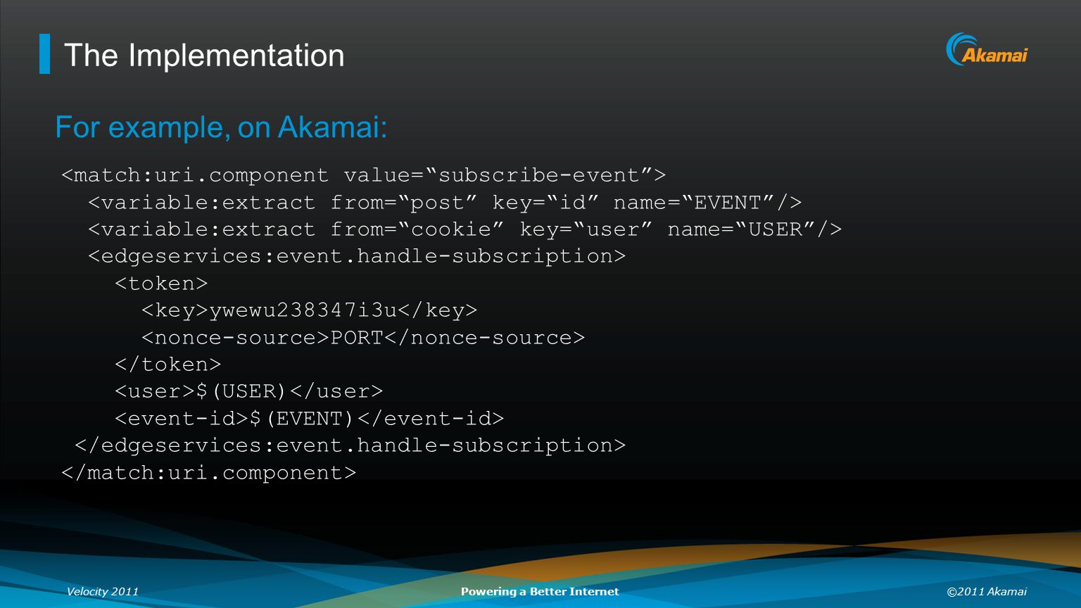 The Implementation For example, on Akamai: