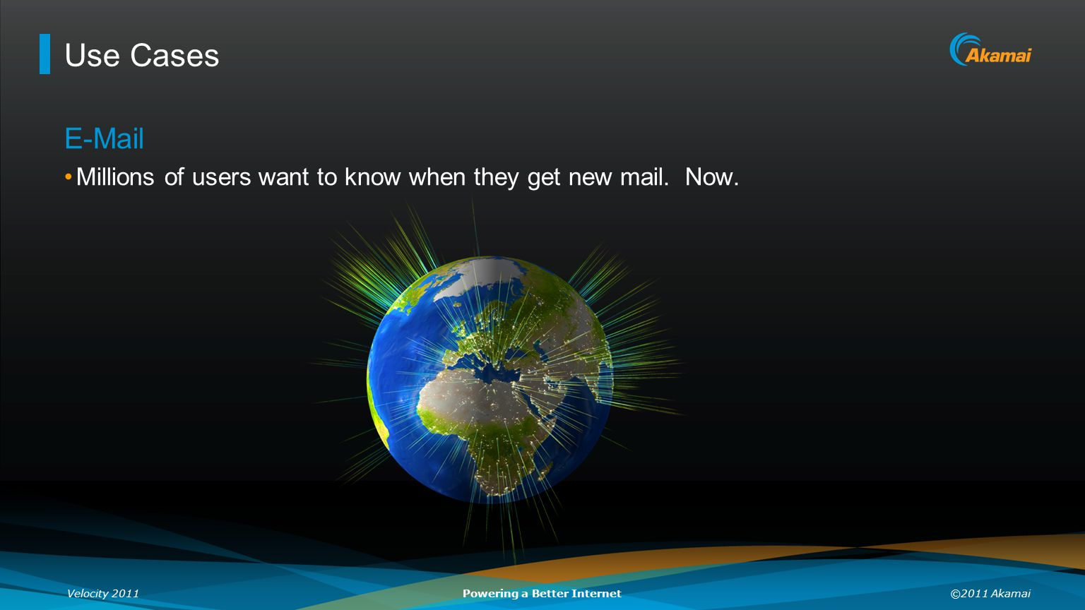 Use Cases E-Mail Millions of users want to know when they get new mail. Now.